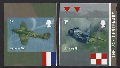 Great Britain 2018 Raf Centenary Self Adhesive  Booklet Pair Unmounted Mint, Mnh
