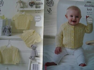 """King Cole 4902 Baby's Sweaters & Cardigans DK Knitting Pattern Sizes 14-24"""""""