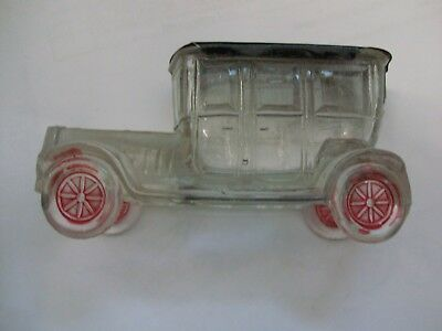 Vintage Victory Glass Old Time Automobile Candy Container