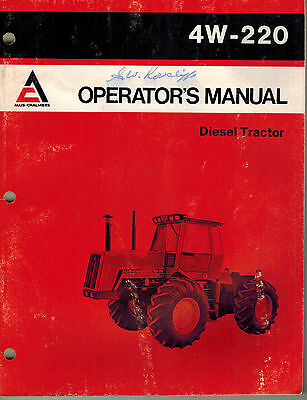 allis chalmers d15 d-15 sel tractor operators and instructions     on  craftsman