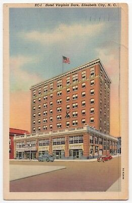 1941 Elizabeth City Nc Hotel Virginia Dare Pasquotank County North Carolina
