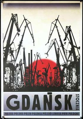 R089 GDANSK travel poster '16 cool art from series of travel posters