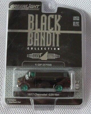 1977 CHEVROLET G20 VAN GREENLIGHT Black Bandit Series #7 GREEN MACHINE #65 of 75