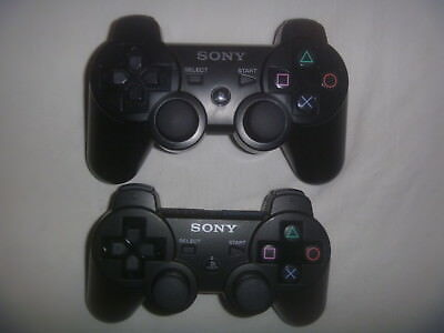 Official Oem Sony Playstation 3 PS3 SixAxis DualShock Controller Lot of 2 Black