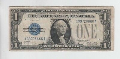 Silver Certificate $1 1928-A Funny Back vg-fine tear and stains