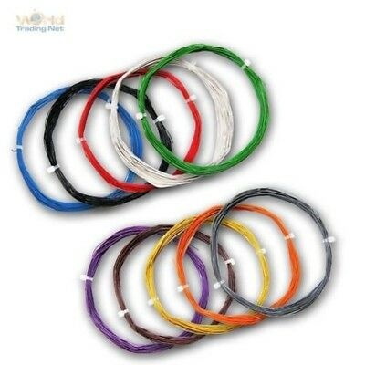 (0,33 €/ M) 10m Flexible Stranded Wire 0,04mm ² Extra Thin Cable Decoder