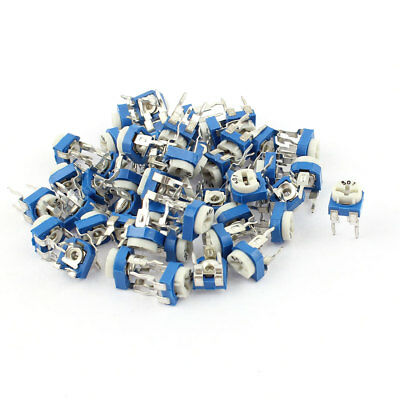 50Pcs 500 ohm Vertical PCB Preset Variable Resistor Trimmer Potentiometer Blue