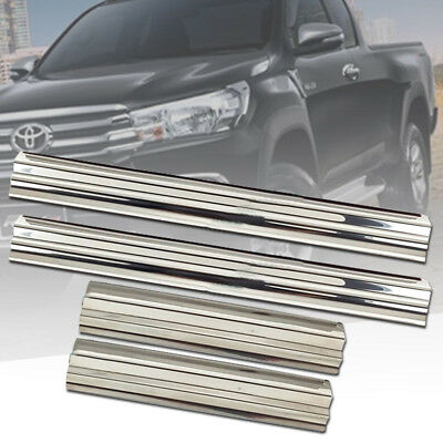 GENUINE TOYOTA HILUX REVO 2015-2018 DOUBLE CAB 4 DOORS STAINLESS SCUFF PLATES