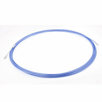 25M 82ft Long Blue Electrical Steel Wire Threader Cable Lead Puller Pulling