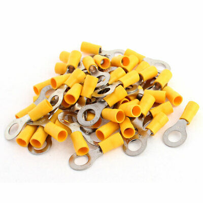 uxcell/® 50pcs RV5.5-5 Cable Lug Pre Insulated Ring Terminal for AWG 12-10 Wire
