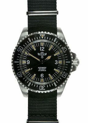 Military Industries 1980s Pattern Automatic 24 Jewel Divers Watch - Non Date