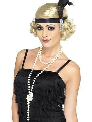 Pearl Necklace, 1920's  Fancy Dress, Gangster, Moll/flapper, One Size, Womens
