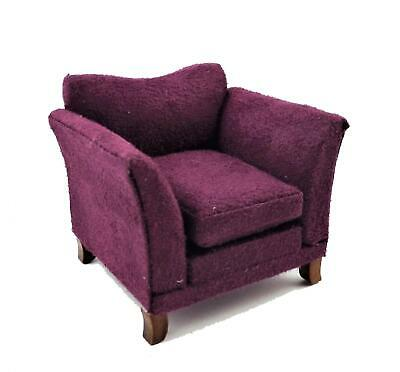 Melody Jane Dolls House Modern Purple Armchair Contemporary Living Furniture
