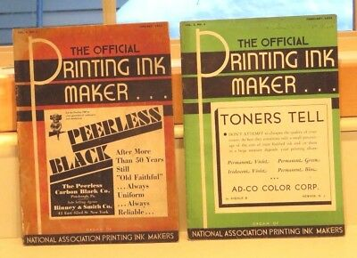 7 Issues - The Official Printing Ink Maker Magazine - 1933/1934