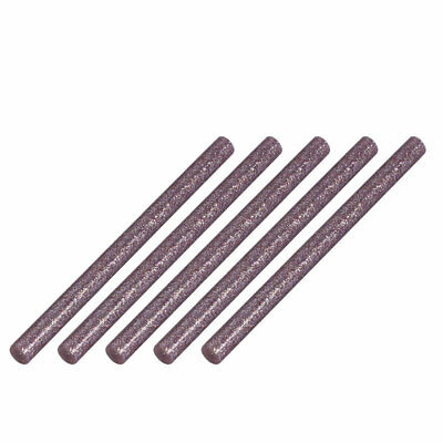 5pcs 7mm Dia 100mm Long Hot Melt Glue Adhesive Stick Light Purple