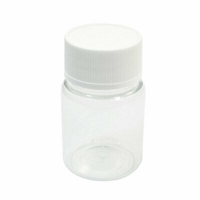 60mL Wide Mouth White Clear Plastic Cylinder Shape Chemistry Storage Case Bottle