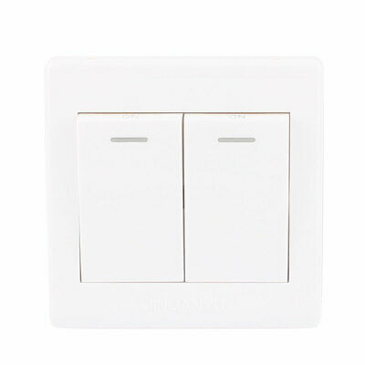 AC250V 10A 1 Gang 2 Way On/Off  Dual Press Button Switch Wall Plate