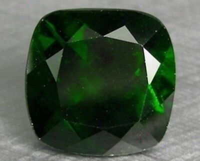 Chrome Diopside 11 Mm Cushion Cut Outstanding Green Color All Natural