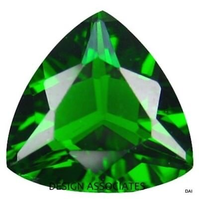 Chrome Diopside 7 Mm Trillion Cut Outstanding Green Color All Natural