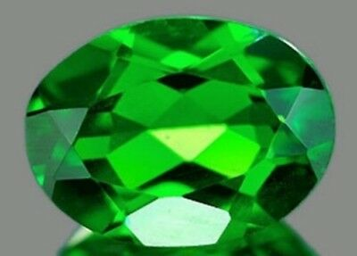 CHROME DIOPSIDE 9 x 7 MM OVAL CUT OUTSTANDING GREEN COLOR ALL NATURAL