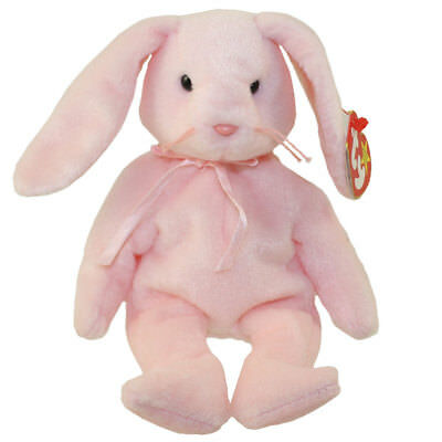 TY Beanie Baby - HOPPITY the Pink Bunny (8 inch) - MWMTs Stuffed Animal 2b373f94adc