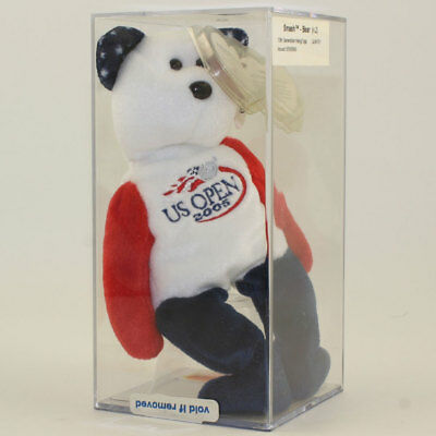 Authenticated TY Beanie Baby - SMASH the U.S. OPEN 2005 Bear (US OPEN Exclusive)