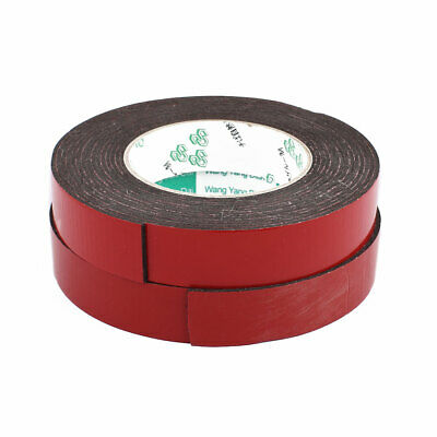 2Pcs 25mm x 1mm Car Double sided Self Adhesive Shockproof Foam Tape 5M Length