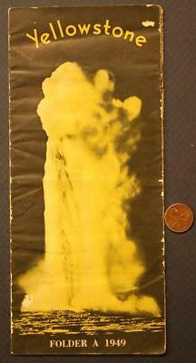 1949 Yellowstone Park Cody,Wyoming Old Faithful Geyser-Hotels Brochure-VINTAGE!
