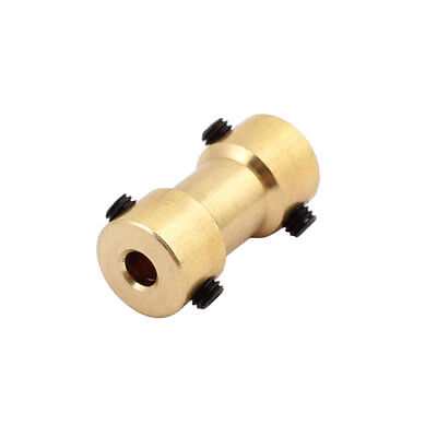 3.17mm to 4.0mm Copper DIY Motor Shaft Coupling Joint Connector for Toy Car
