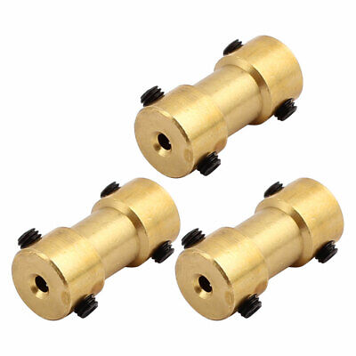 3pcs 2.0mm to 2.0mm Copper DIY Motor Shaft Coupling Joint Connector for Toy Car