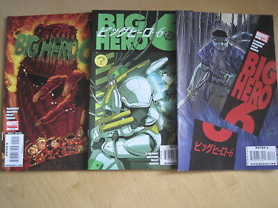 BIG HERO 6 : issues 3, 4, 5 ( of debut 5 issue Marvel 2008 series) CURRENT MOVIE