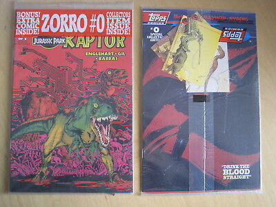 JURASSIC PARK  Raptor issue 1. Still SEALED with T/Cards +extra comic.Topps,1992