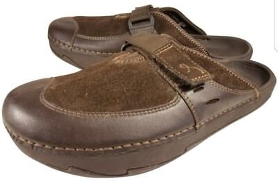 4a817b0ab6 Earth Kalso Woman Shoes Clogs Mule Brown Suede Leather Sz Us 7 B Euc