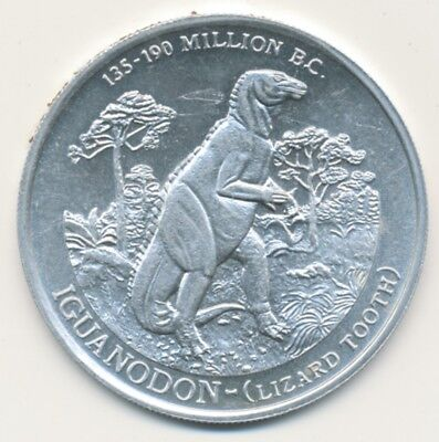 Metal Dinosaur Coin 1979 Second Series Fruity Pebbles Iguanodon Jurassic Period