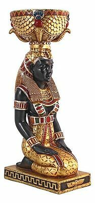 Egyptian Statue Goddess Eset Kneeling Replica Ancient Urn Sculpture NEW
