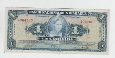 Nigaragua Paper Money one old note au