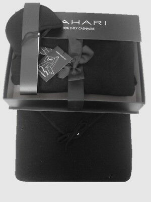 Tahari Lux Black 100% Cashmere Travel Set - Blanket Throw & Eye Mask & Poach NIB