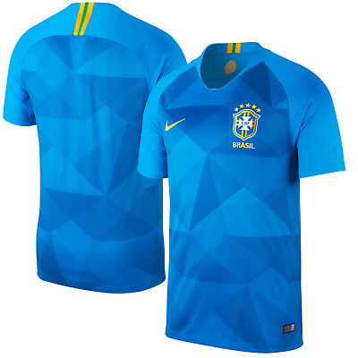 efa798a5ad2 Nike Brazil - Brasil WC World Cup 2018 Away Soccer Jersey Blue Kids - Youth