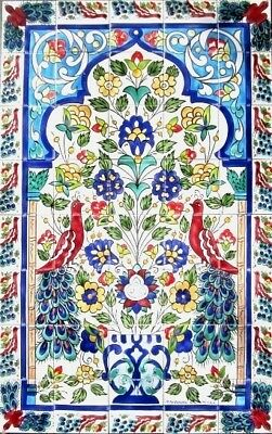 Large Decorative Ceramic Tiles: Mosaic Panel Hand Painted Home Kitchen Wall Art