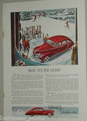 1941 Lincoln advertisement, Lincoln Zephyr, color art