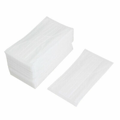 50 x White Elastic Ear Loop Medicinal Dust Resistant Disposable Face Mask