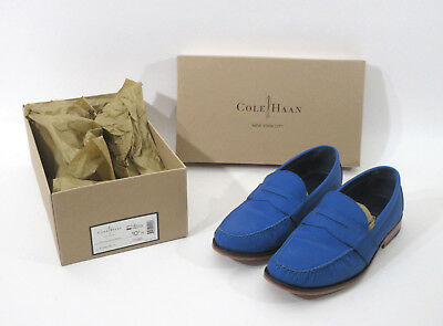 4c5c3ed60b6 Mens Cole Haan AIR MONROE Penny Loafers Slip On Suede Blue Empire Rfltv  10.5 M