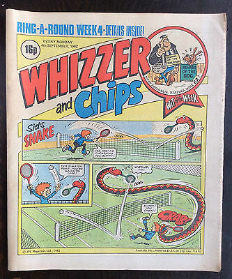 Whizzer And Chips Comic. 4 September 1982. Vfn