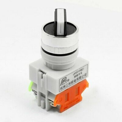 10A 660VAC 2 Selector Position Locking 4 Terminals NO+NC DPST Rotary Switch