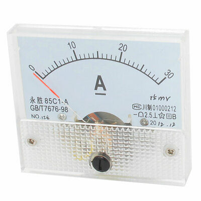 85C1-A DC 0 to 30Class 2.5 Rectangle Panel Analog Ammeterere Meter