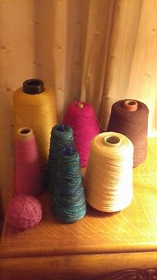 Assorted Spindlecraft Machine Knitting  Crochet  Wool On Cones & Sewing Threads