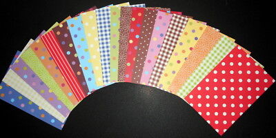 "Bright & Colourful Scrapbooking/Cardmaking Papers x 20 *15cm x 10cm ( 6"" x 4"")"