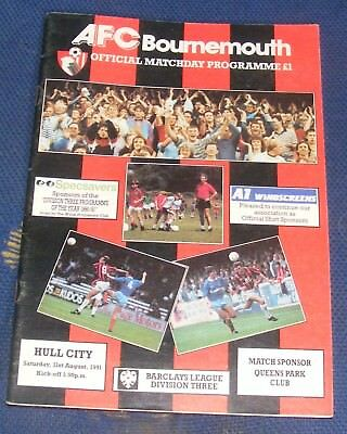 Afc Bournemouth Home Programmes 1991-1992