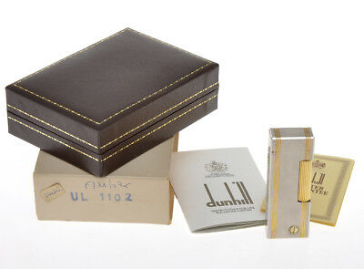 Dunhill accendino vintage steel Rollagas lighter rare model new old stock in box