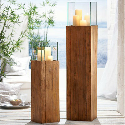 bodenwindlicht woody kerzenhalter recyceltes holz wohnzimmerdeko windlichts ule eur 154 99. Black Bedroom Furniture Sets. Home Design Ideas